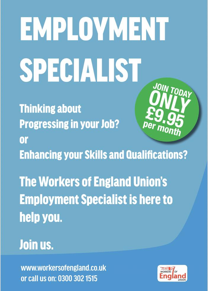 Workers of England Union – Your Union – Your Voice